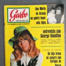 Coleccionismo de Revista Garbo: GARBO Nº 778 1968 JULIE CHRISTIE, GEORGE HAMILTON, FRANCOISE HARDY, LUCIA BOSÉ MIGUEL DOMINGUIN. Lote 244806010