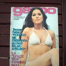 Coleccionismo de Revista Garbo: GARBO / MIGUEL RIOS, TERESA RABAL, MARK SPITZ, MASSIEL, ROCIO DURCAL, LORENZO SANTAMARIA. Lote 245257665