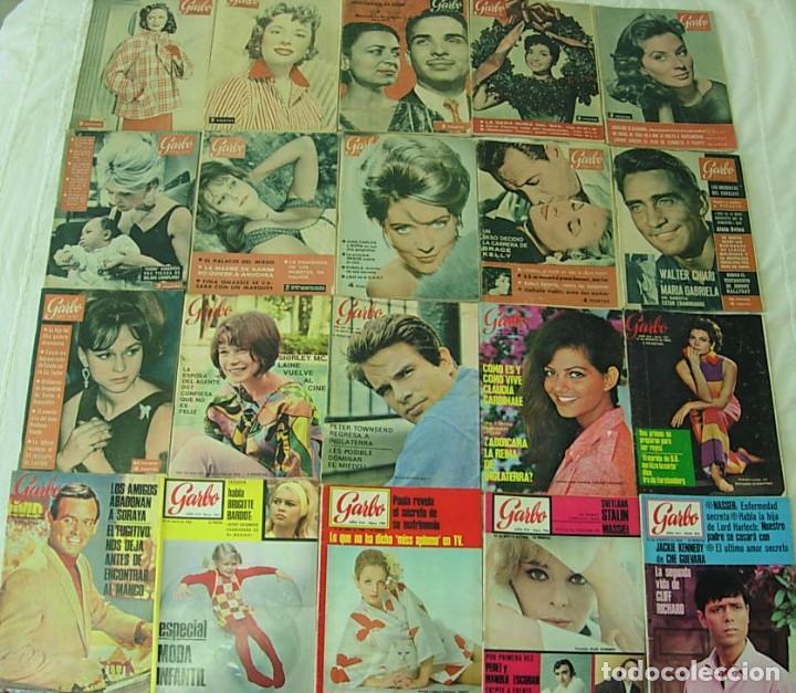 LOTE DE 20 REVISTAS GARBO 1954-1968 BRIGITTE BARDOT CLAUDIA CARDINALE COMPLETAS !! (Coleccionismo - Revistas y Periódicos Modernos (a partir de 1.940) - Revista Garbo)