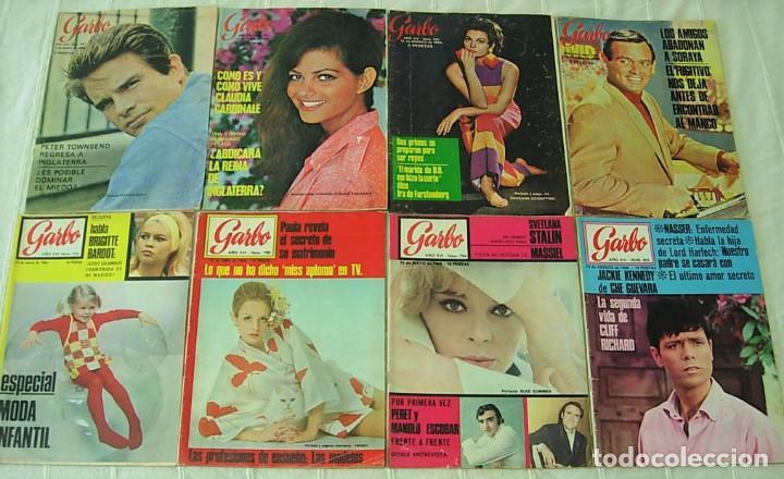 Coleccionismo de Revista Garbo: LOTE de 20 REVISTAS GARBO 1954-1968 BRIGITTE BARDOT CLAUDIA CARDINALE Completas !! - Foto 4 - 253674655