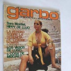 Coleccionismo de Revista Garbo: REVISTA GARBO Nº 1107 - 1974 - SARA MONTIEL - PUBLICIDAD COLONIA AZUR DE PUIG -. Lote 254751825