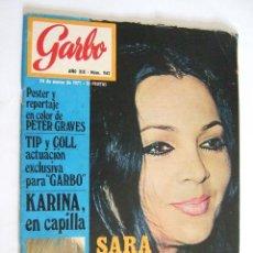 Coleccionismo de Revista Garbo: REVISTA GARBO Nº 942 - 1971 - SARA MONTIEL - KARINA - PUBLICIDAD WHISKY DYC - COCA COLA - DANONE. Lote 254752870