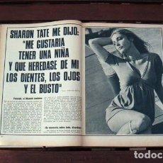 Coleccionismo de Revista Garbo: REVISTA GARBO / SHARON TATE, JEAN PAUL BELMONDO, BOBBY SOLO, PAOLA DE BELGICA BELGIUM, SERRAT. Lote 261253915