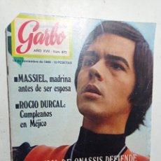 Coleccionismo de Revista Garbo: REVISTA GARBO NÚMERO 872 AÑO 1969 MASSIEL JUNIOR ROCÍO DÚRCAL JAQUELINE ONASSIS VER SUMARIO. Lote 266072488
