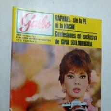 Coleccionismo de Revista Garbo: REVISTA GARBO NÚMERO 725 AÑO 1967 RAPHAEL GINA LOLLOBRIGIDA VER SUMARIO. Lote 266072568