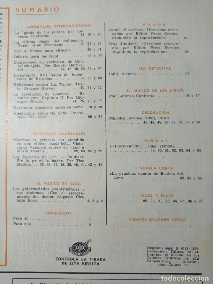 Coleccionismo de Revista Garbo: Revista Garbo número 725 año 1967 Raphael Gina lollobrigida ver sumario - Foto 2 - 266072568