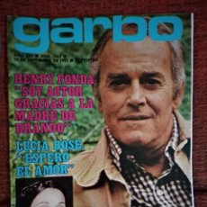Colecionismo da Revista Garbo: REVISTA GARBO 1063 HENRY FONDA SHEILA Y RINGO LUCIA BOSE NURIA FELIU BETSABE RUIZ GINA LOLLOBRIGDA. Lote 266523603