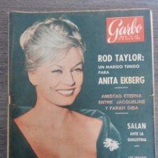 Colecionismo da Revista Garbo: REVISTA GARBO 12 MAYO 1962, ROD TAYLOR, ANITA EKBERG, FARUK, PICASSO, PRIMERAS MUJERES EN JUDO. Lote 283743468