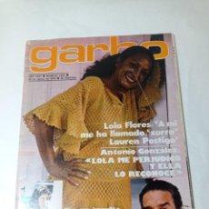 Coleccionismo de Revista Garbo: REVISTA GARBO. Lote 284589828