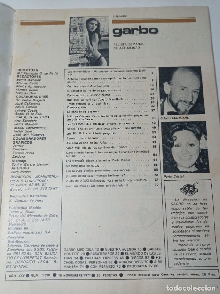 Coleccionismo de Revista Garbo: Revista garbo - Foto 2 - 284589853
