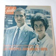 Coleccionismo de Revista Garbo: REVISTA GARBO 536 AÑO 1963 LOS PRÍNCIPES DE ESPAÑA JUAN CARLOS PRIMERO Y SOFÍA. Lote 284592023