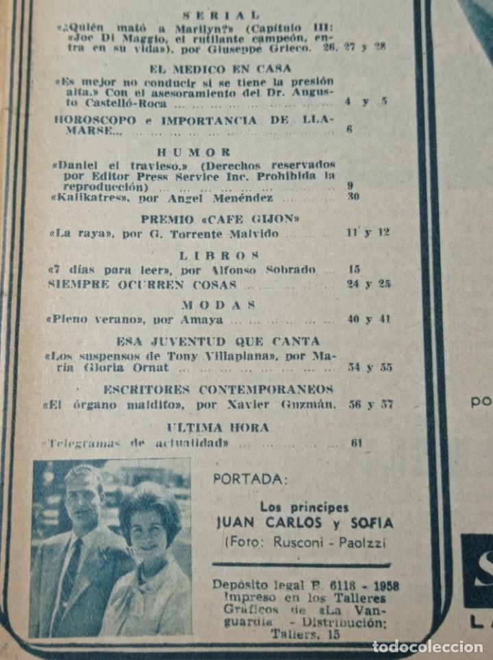 Coleccionismo de Revista Garbo: Revista garbo 536 año 1963 los príncipes de España Juan Carlos primero y Sofía - Foto 4 - 284592023