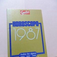 Coleccionismo de Revista Garbo: HORÓSCOPO 1987 GARBO. TODOS LOS SIGNOS MES POR MES. Lote 287841218
