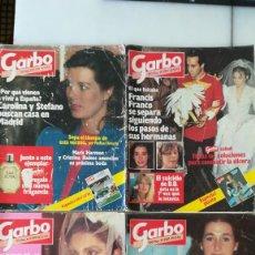 Coleccionismo de Revista Garbo: 8 REVISTAS GARBO AÑOS 1983/84.JULIO IGLESIAS, CAROLINA, DUQUE DE CÁDIZ, CARMINA ORDOÑEZ. Lote 287896273