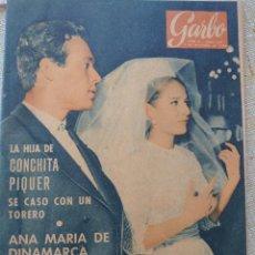 Coleccionismo de Revista Garbo: BODA DE CONCHITA PIQUER Y CURRO ROMERO REVISTA GARBO N.503 , NOVIEMBRE 1962.... Lote 288894083