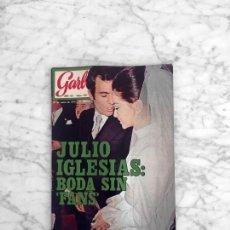 Coleccionismo de Revista Garbo: GARBO 1971 BODA DE JULIO IGLESIAS, ISABEL PREYSLER, PETULA CLARK, MICK JAGGER, FELIX R. DE LA FUENTE. Lote 289681118