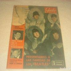 Coleccionismo de Revista Garbo: GARBO N. 618. ENERO DE 1965. PRESENTAMOS A LAS FAMILIAS DE LOS BEATLES.. Lote 291536348