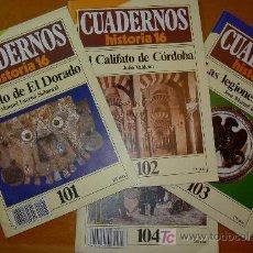 Coleccionismo de Revista Historia 16: CUADERNOS DE HISTORIA 16 NUM. 101, 102, 103, Y 104. Lote 26431826