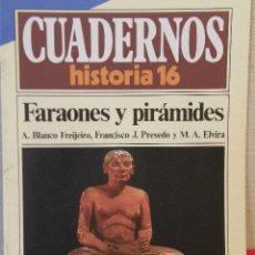Coleccionismo de Revista Historia 16: CUADERNOS HISTORIA 16 Nº 70 FARAONES Y PIRÁMIDES. Lote 15089282