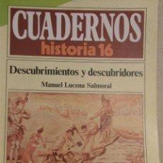 Coleccionismo de Revista Historia 16: CUADERNOS HISTORIA 16 Nº 139 DESCUBRIMIENTOS Y DESCUBRIDORES. . Lote 15102517