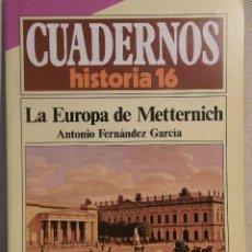 Coleccionismo de Revista Historia 16: CUADERNOS HISTORIA 16 Nº 145 LA EUROPA DE METTERNICH. . Lote 15102641