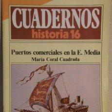 Coleccionismo de Revista Historia 16: CUADERNOS HISTORIA 16 Nº 166 PUERTOS COMERCIALES EN LA E. MEDIA. . Lote 15103276