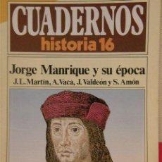 Coleccionismo de Revista Historia 16: CUADERNOS HISTORIA 16 Nº 258 JORGE MANRIQUE Y SU ÉPOCA. . Lote 15129367