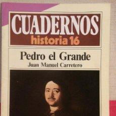 Coleccionismo de Revista Historia 16: CUADERNOS HISTORIA 16 Nº 268 PEDRO EL GRANDE. . Lote 15129559