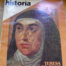 Coleccionismo de Revista Historia 16: HISTORIA 16- TERESA DE JESÚS- EL ALEMAN, ESPEJISMO SANGRIENTO- MURILLO. Lote 22152559