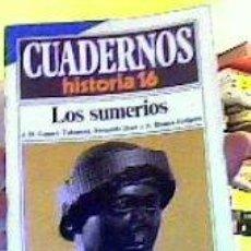 Coleccionismo de Revista Historia 16: CUADERNOS HISTORIA 16;Nº23-LOS SUMERIOS-;GÓMEZ-TABANERA/DÍAZ/BLANCO. Lote 49240601