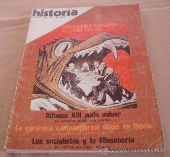 HISTORIA 16, Nº 35, MARZO 1979. (Coleccionismo - Revistas y Periódicos Modernos (a partir de 1.940) - Revista Historia 16)