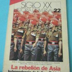Coleccionismo de Revista Historia 16: HISTORIA 16. HISTORIA UNIVERSAL. SIGLO XX. Nº 22. Lote 28605249