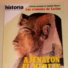 Coleccionismo de Revista Historia 16: HISTORIA 16 Nº 180 - AJENATON EL HEREJE - LA GUERRA DEL GOLFO - LOS CRIMENES DE LARINO. Lote 30928076
