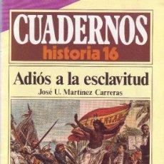 Coleccionismo de Revista Historia 16: CUADERNOS HISTORIA 16 - NÚMERO 169: ADIOS A LA ESCLAVITUD. Lote 32811313