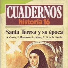 Coleccionismo de Revista Historia 16: CUADERNOS HISTORIA 16 - NÚMERO 110: SANTA TERESA Y SU ÉPOCA. Lote 32811569