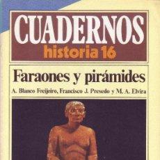 Coleccionismo de Revista Historia 16: CUADERNOS HISTORIA 16 - NÚMERO 70: FARAONES Y PIRÁMIDES. Lote 32812303