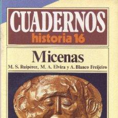 Coleccionismo de Revista Historia 16: CUADERNOS HISTORIA 16 - NÚMERO 6: MICENAS. Lote 32813330