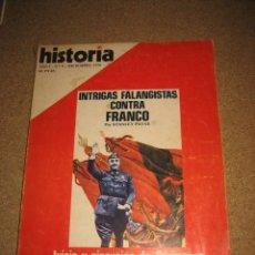 Coleccionismo de Revista Historia 16: HISTORIA 16 AÑO I Nº 8 DICIEMBRE DE 1976 INTRIGAS FALANGISTAS CONTRA FRANCO POR STANLEY PAYNE . Lote 33764437