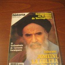 Coleccionismo de Revista Historia 16: HISTORIA 16 ESPECIAL Nº144 ABRIL 1988 - INFORME: JOMEINI, LA COLERA DE ALA. Lote 35068150