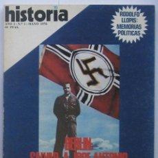 Coleccionismo de Revista Historia 16: HISTORIA 16 Nº 1. BERLIN: SALVAD A JOSE ANTONIO. 1976. Lote 37488866