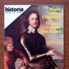 Coleccionismo de Revista Historia 16: HISTORIA 16. Nº 138. MAETZU CONTRA LA II REPÚBLICA – CROMWELL. Lote 38173344
