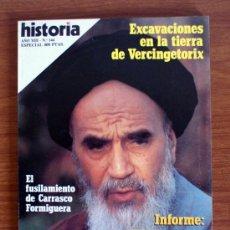 Coleccionismo de Revista Historia 16: HISTORIA 16. Nº 144. VERCINGETORIX – JOMEINI – CARRASCO FORMIGUERA. Lote 38178293