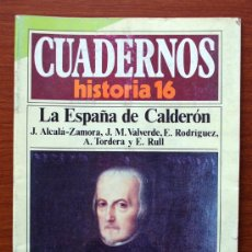 Coleccionismo de Revista Historia 16: CUADERNOS HISTORIA 16. Nº 288. LA ESPAÑA DE CALDERÓN. J. ALCALÁ-ZAMORA, J. M. VALVERDE, E. RODRÍGUEZ. Lote 38586683