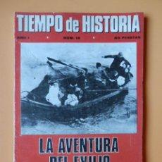Coleccionismo de Revista Historia 16: TIEMPO DE HISTORIA. LA AVENTURA DEL EXILIO, ESPAÑOLES EN LA PRISIÓN DE EYSSES. AÑO I. NÚM. 12 - DIVE. Lote 36670790