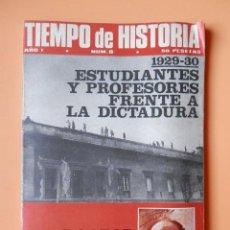 Coleccionismo de Revista Historia 16: TIEMPO DE HISTORIA. ESTUDIANTES Y PROFESORES FRENTE A LA DICTADURA (1929-30). AÑO I. NÚM. 8 - DIVERS. Lote 36670794