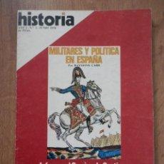 Coleccionismo de Revista Historia 16: HISTORIA 16. MILITARES Y POLÍTICA EN ESPAÑA. AÑO I. Nº 2 - DIVERSOS AUTORES. Lote 36761420