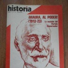 Coleccionismo de Revista Historia 16: HISTORIA 16. ¡MAURA AL PODER! (1913-23). AÑO V. Nº 55 - DIVERSOS AUTORES. Lote 36761423