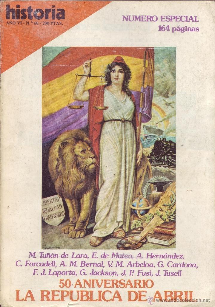 REVISTA HISTORIA 16 - Nº 60 (Coleccionismo - Revistas y Periódicos Modernos (a partir de 1.940) - Revista Historia 16)