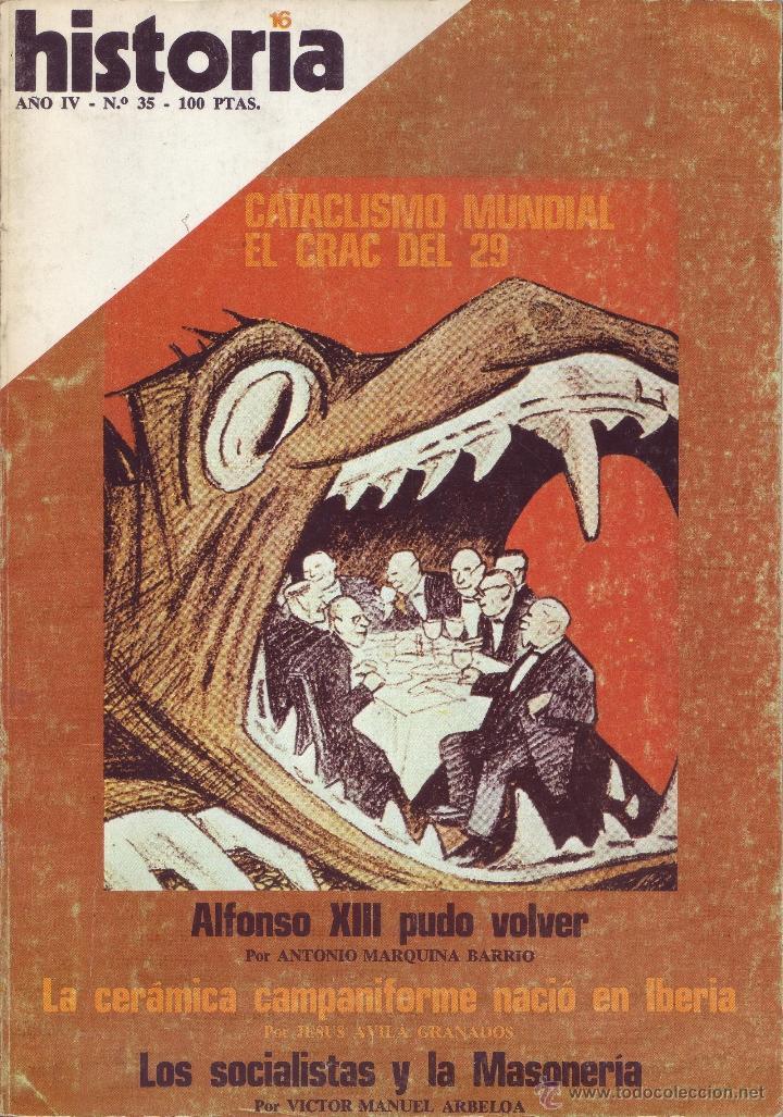 REVISTA HISTORIA 16 - Nº 35 (Coleccionismo - Revistas y Periódicos Modernos (a partir de 1.940) - Revista Historia 16)