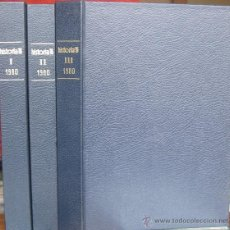 "Coleccionismo de Revista Historia 16: REVISTA ""HISTORIA 16"" ENCUADERNADA, AÑO 1980 (3 TOMOS - Nº 45 A 56).. Lote 41505030"